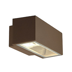 SLV 232487 BOX R7S wall lamp Square rust-coloured R7s 80W