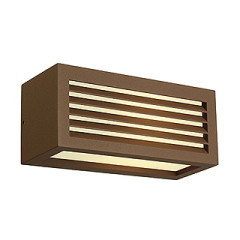 SLV 232497 BOX-L E27 wall lamp Square rust-coloured E27