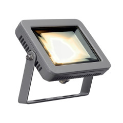 SLV 232804 Square Silver Grey 8.3W COB LED 3000K IP55