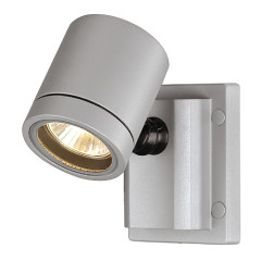 SLV 233104 NEW MYRA WALL luminaire Silver Grey GU10 IP55
