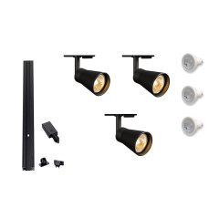track lighting solutions. mls 800101 avo x 3 track kit black lighting solutions