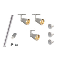 track lighting solutions. mls 800102 avo x 3 track kit silver lighting solutions l