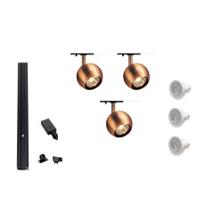 MLS 800104 Single Eye 1 Copper x 3 Track Kit Black