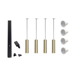 MLS 800120 Enola Brass x 4 Kit Black (2m Track Kit 2 x 1m tracks and 1 x coupler supplied)