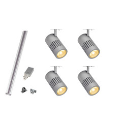 Kit Includes: 1 x 2M Silver Track, 1 x Feed in, 1 x End cap, 4 x Silver Strutec 2360lm 3000K fittings