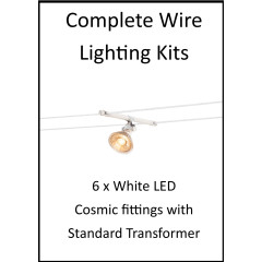 MLS 139207 6m Hi Wire White Kit with 6 x LED Fittings with Standard Transformer