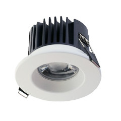 3 in 1 LED Fire Rated 8W Downlight White Bezel 3K/4K/5K Switchable IP65 Dimmable