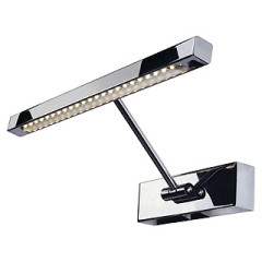 LED Picture light STRIP, chrome, incl. LED strip with 24 warm white LED