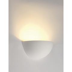 SLV 148013 Wall lamp GL 101 E14 half White plaster