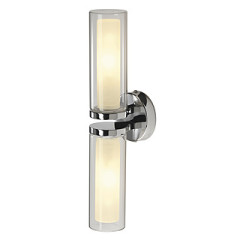 SLV 149492 Wall lamp WL 106 E14 Chrome Double glass 2 xE14