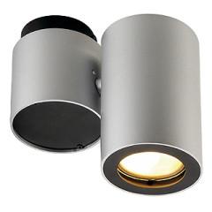 SLV 151824 ENOLA_B SPOT I Silver Greyand Black GU10