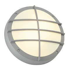 SLV 229084 BULAN GRID wall lamp Silver Grey E27