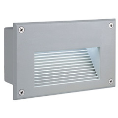 SLV 229702 BRICK LED DOWNUNDER, Silver Grey, Warm White