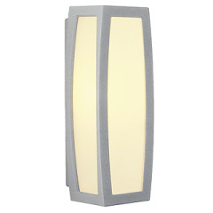 SLV 230044 MERIDIAN BOX wall lamp E27 Silver Grey