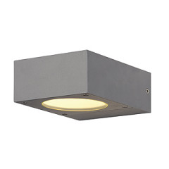 SLV 232284 QUADRASYL wall lamp WL 15 Square Silver Grey GX53