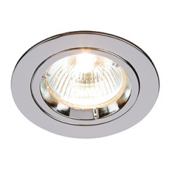 MLS DL492N Twist Lock GU10 Fixed Downlight Polished Chrome LED or halogen options