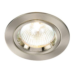 MLS DL495N Twist Lock GU10 Fixed Downlight Alu Brushed LED or halogen options