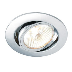 G492N Twist Lock GU10 Adjustable Downlight Polished Chrome LED or halogen option
