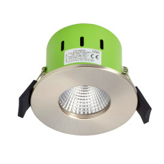 Greenbrook ADV3000W 9W IP65 LED Dimmable Fire Rated Satin Chrome Fixed Warm White