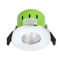 Greenbrook ADV3000W 9W IP65 LED Dimmable Fire Rated P/Chrome Fixed Warm White