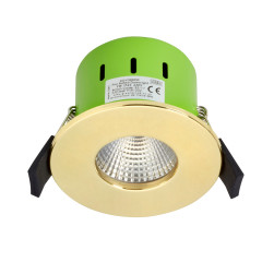 Greenbrook ADV3000W 9W IP65 LED Dimmable Fire Rated Gold Fixed Warm White