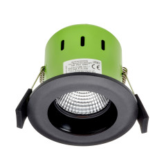 Greenbrook ADVAG3000W 9W IP65 Anti Glare LED Fire Rated Matt Black Fixed Warm White