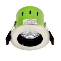 Greenbrook ADVAG4000W 9W IP65 Anti Glare LED Fire Rated Satin Chrome Cool White