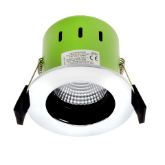 Greenbrook ADVAG4000W 9W IP65 Anti Glare LED Fire Rated Polished Chrome Cool White