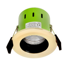 Greenbrook ADVAG3000W 9W IP65 Anti Glare LED Fire Rated Gold Warm White