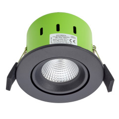 Greenbrook ADVT3000W 9W IP65 Tilt LED Fire Rated Matt Black Adj Warm White
