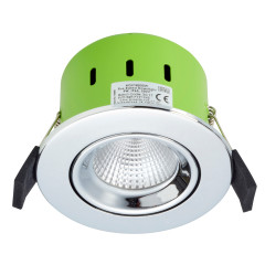 Greenbrook ADVT4000W 9W IP65 Tilt LED Dimmable Fire Rated Polished Chrome Adjustable Cool White