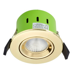 Greenbrook ADVT3000W 9W IP65 Tilt LED Fire Rated Gold Adj Warm White