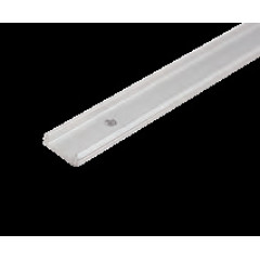 MLS 800020 Aluminium Profile 1m surface mount Single profile shallow finish Aluminium