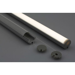 MLS 800031 Aluminium Profile 2m wireandinstall hanging Single profile Round finish Aluminium