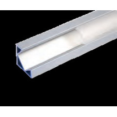 MLS 800040 Aluminium Profile 2m surface mounted corner Single profile deep finish opaque Aluminium