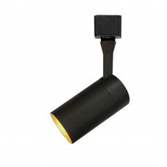 Barrel GU10 Track Spot Black Dimmable requires a GU10 LED