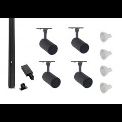 Track-Lighting-Kit-Black-4 Spot-LED-Dimmable