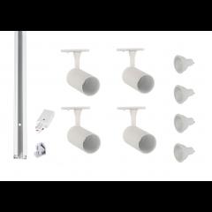 Track-Lighting-Kit-White-4 Spot-GU10-LED-Dimmable