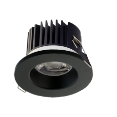 DALI Dimmable LED Fire Rated Downlight Black Bezel 3000K/4000K/5000K Switchable