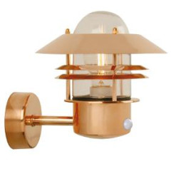 Nordlux 25031030 Copper Wall Light with Sensor
