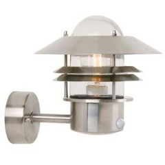 Nordlux 25031034 Stainless Steel Wall Light with Sensor