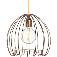 Copper Cage Pendant E27