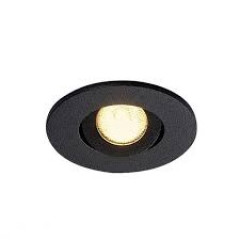 SLV 113980 New Tria Mini Round IP44 Matt Black 3000K
