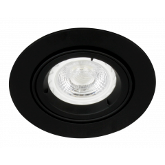 MLS G490N Twist Lock GU10 Adjustable Downlight Black