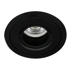 MLS MT500 Recessed Downlight Black, Baffle to reduce glare, Requires GU10 LED