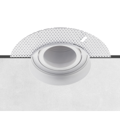 Plaster-in Adjustable GU10 Recessed Downlight White