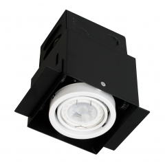 Single Trimless Square Multi Directional GU10 Downlight White