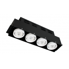 Quad Trimless Multi Directional GU10 Downlight White