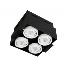 Quad Square Trimless Multi Directional GU10 Downlight White