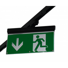 Track Emergency EXIT LED Maintained Black (Suitable for several makes of 3 Circuit Track)